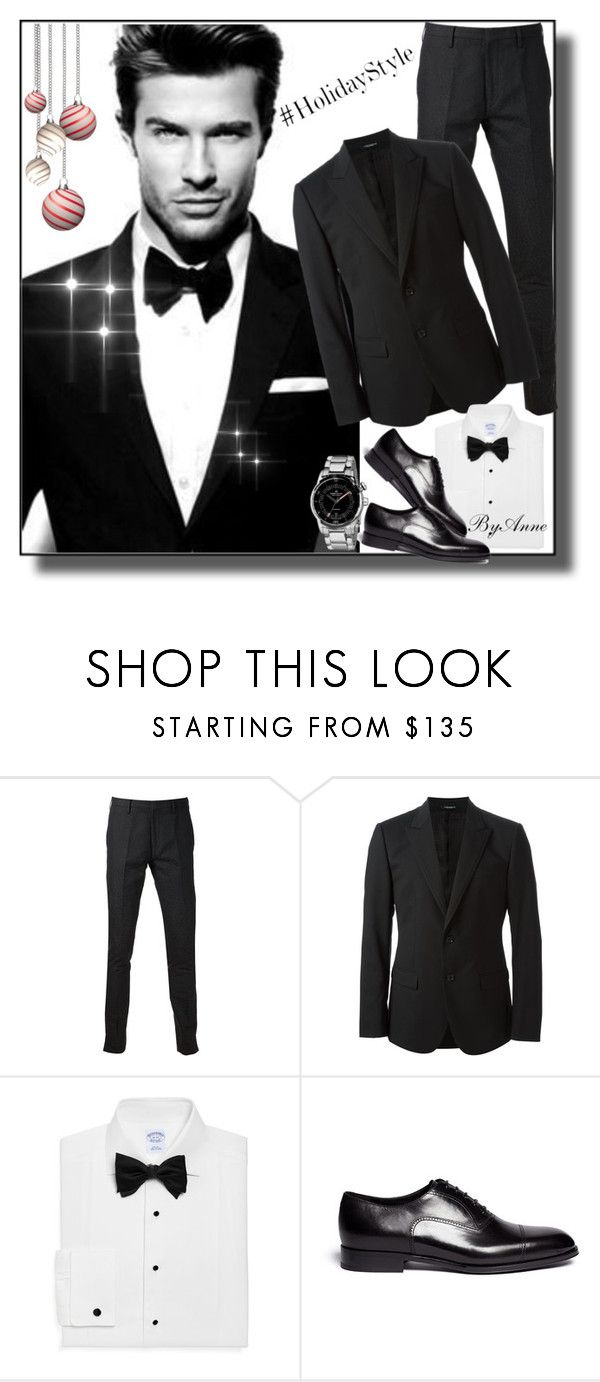 """""""Holidays Style Man ;)"""" by anne-977 ❤ liked on Polyvore featuring Paul Smith, Dolce&Gabbana, Brooks Brothers, Giorgio Armani, Maurice Lacroix, topman, holidaystyle and HolidayParty"""