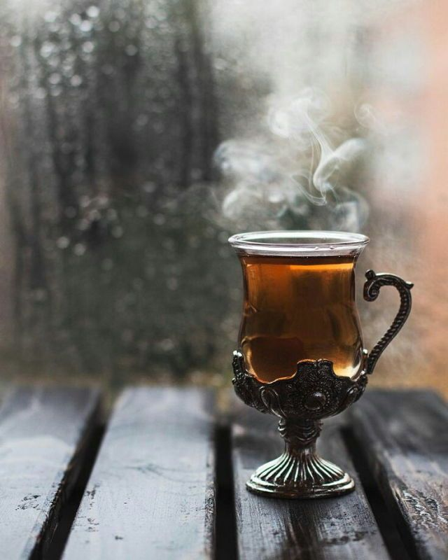 lovely cup of tea on a rainy day