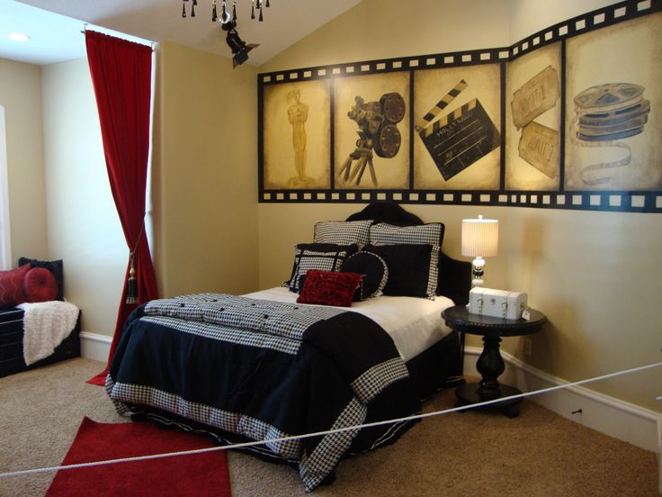 Movie style bedroom for all those cinema fans out there.