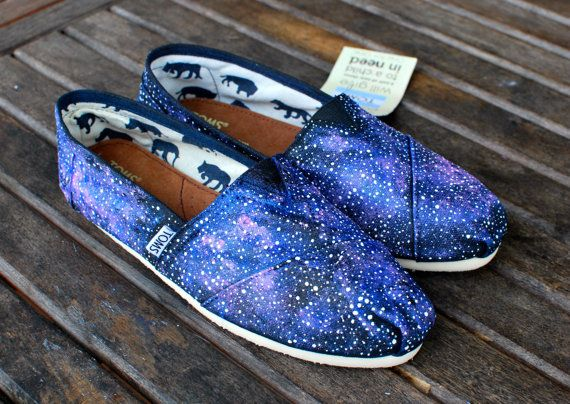 Galaxy TOMS shoes by BStreetShoes on Etsy, want them! $149.00