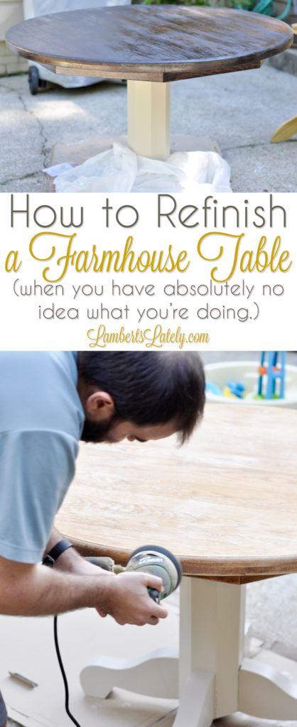 Wie erstelle ich einen Bauernhaustisch (wenn Sie absolut keine Ahnung haben, was Sie tun?