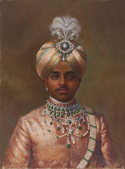 1906年、K. Keshavayya作、南インド、マイソール藩王国クリシュナ・ラージャ4世(1884-1940)の肖像画。45年間の長い治世の間にマイソール藩王国の近代化を進めた。 pic.twitter.com/zoq9Hgq9xI