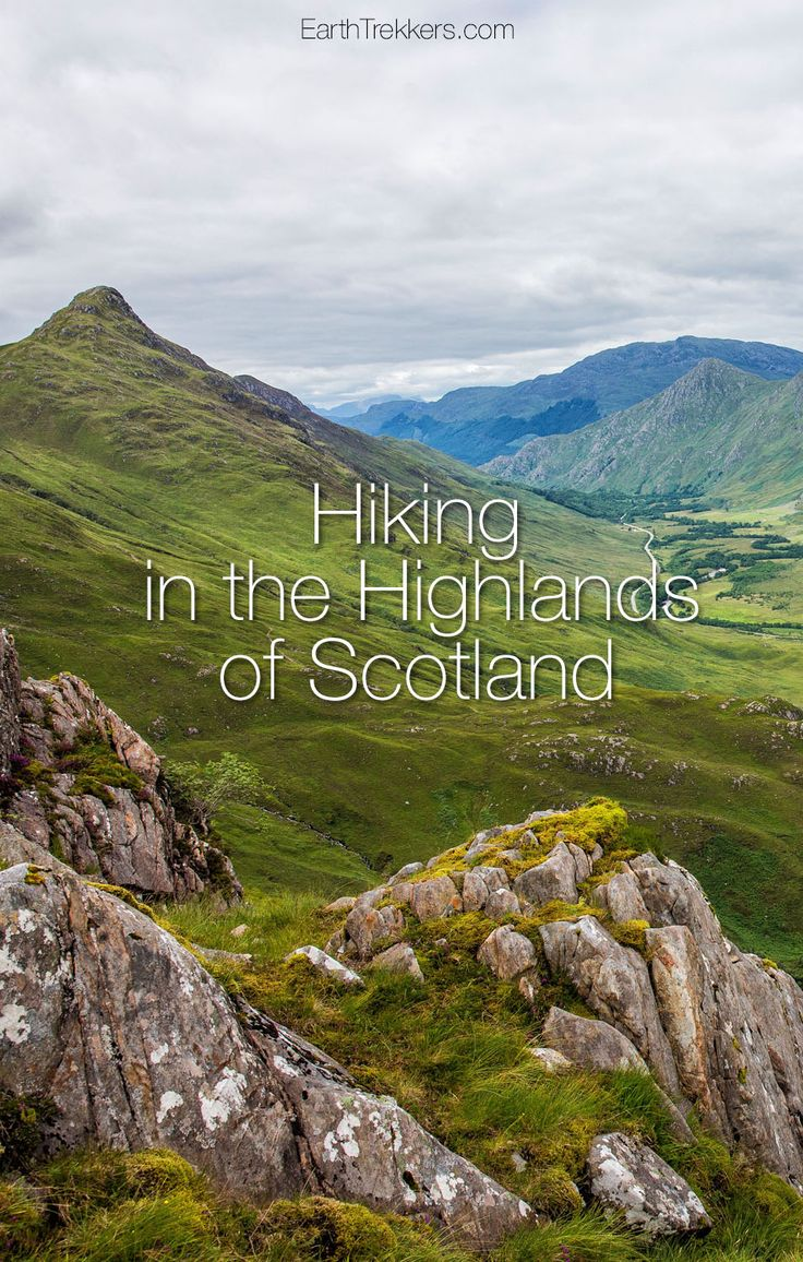 Hiking the Kintail Saddle in the Highlands of Scotland