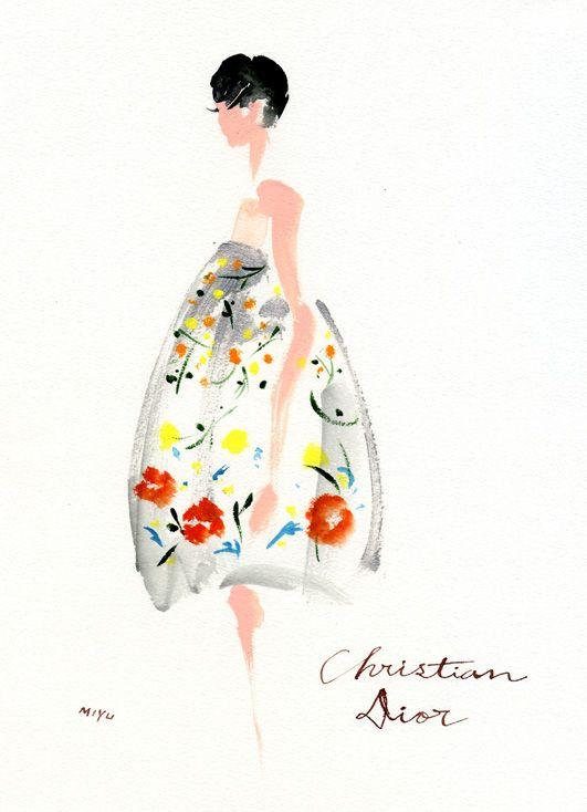 NM Insider: Christian Dior sketch.