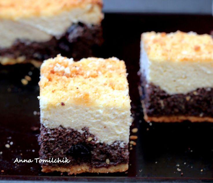 """Когда-то давно в одной минской кофейне мне очень нравился пирог под названием """"Сыромак"""". Там было много мака, творог, песочное тест..."""