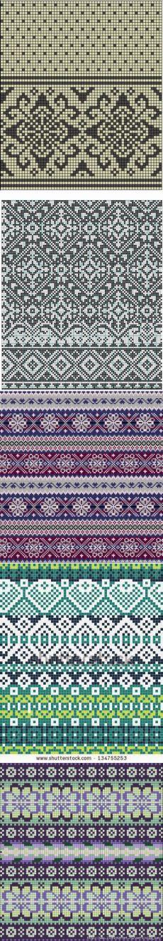 Jacquard patterns.
