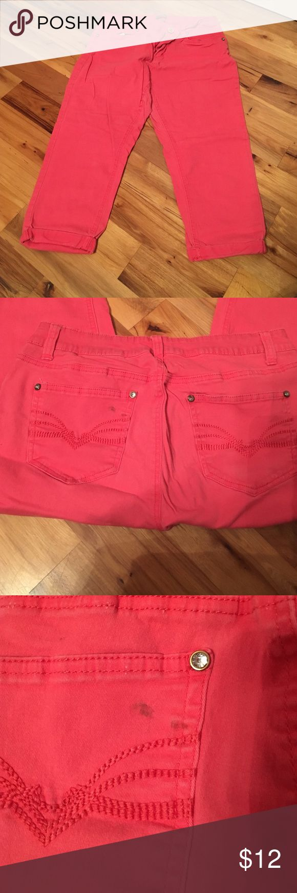 New directions coral capris Size 12 new directions coral capris. Small mark on back pocket. Very comfortable. new directions Pants Capris