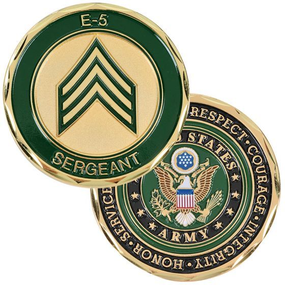 E-5 Army Sergeant Coin | Medals of America