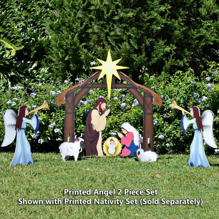 Printed Nativity Angel With Nativity Set Sold Separately