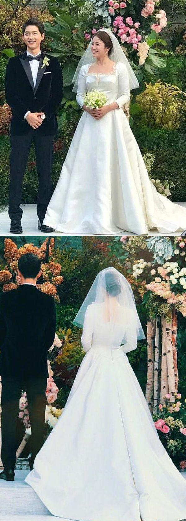 Best A-line Wedding Dresses : Romantic Satin & Lace Square Neckline Natural Waistline A-line Wedding Dress