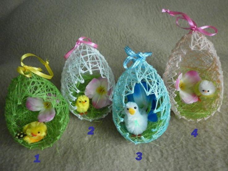 Vajíčko z nití - velikonoční dekorace – Potvor - pomáhat tvořit