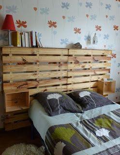 autre exemple tête de lit palette