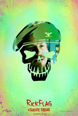 Suicide Squad Rick Flag GIF Poster