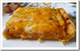 Our favorite GF pizza crust for a season.  Cornmeal Crust--fast, easy and good.  Use a BIG cookie sheet, as it's quite thick.