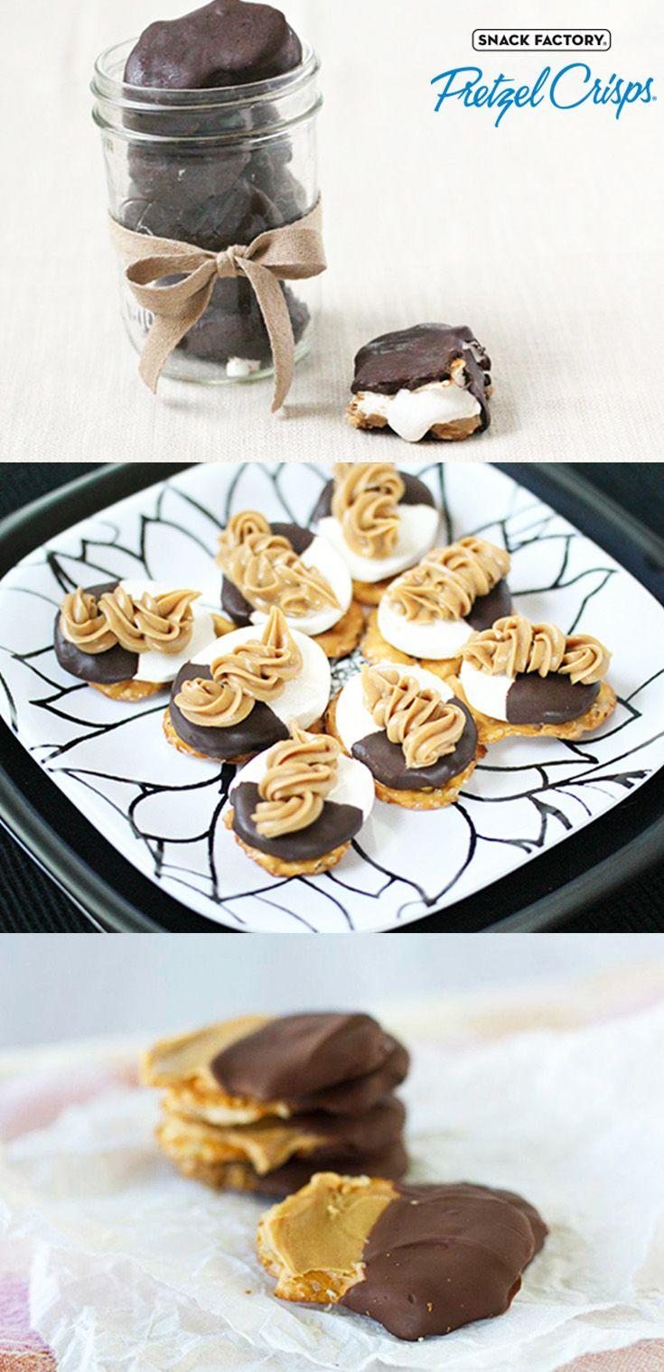 5 Pretzel Crisps® Recipes That Prove Peanut Butter and Chocolate Are Soulmates