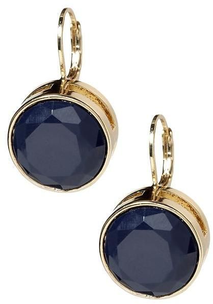 Faceted drop earring thestylecure.com