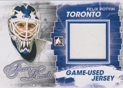 Felix Potvin game-used jersey card