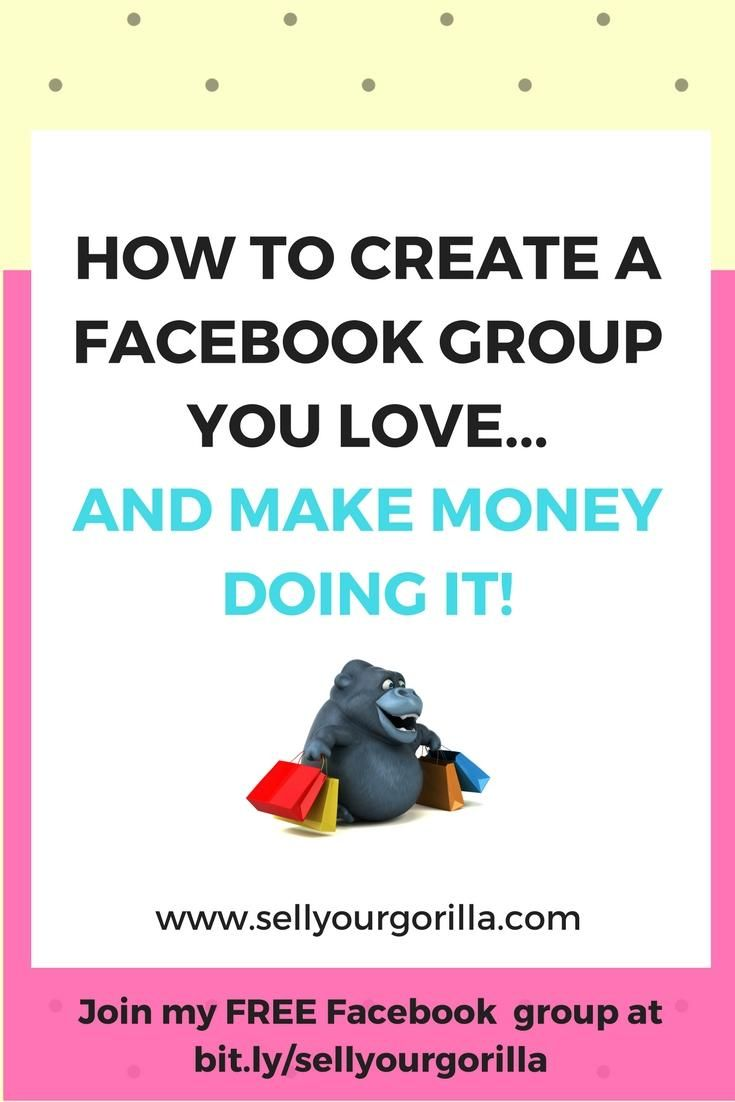 Have you been thinking of starting a Facebook group....but you're not sure it's right for you?   OR  Do you already have a group and it's not quite what you thought it would be?    Either way....www.sellyourgorilla.com can help!  Join my FREE Facebook group at bit.ly/sellyourgorilla