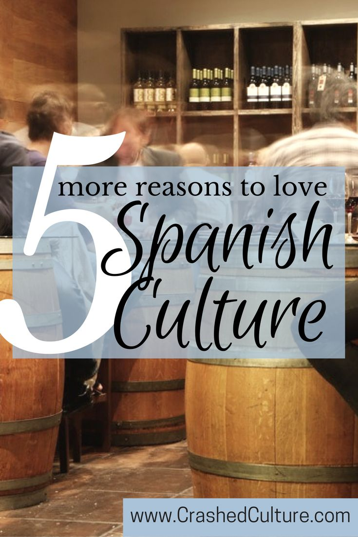 There are lots of reasons why I love Spanish culture. In fact it's difficult not to love Spanish culture. The culture itself is one of happiness. via @crashedculture
