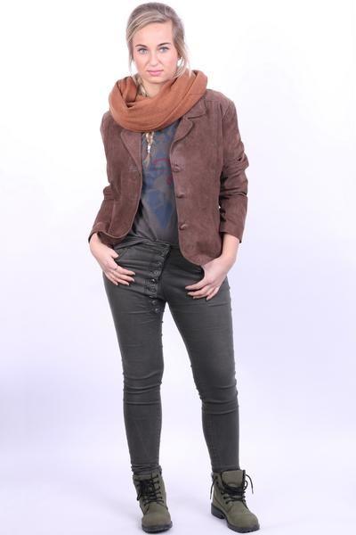 Wallace Sacks Womens 18 XL Leather Jacket Brown Blazer Top - RetrospectClothes