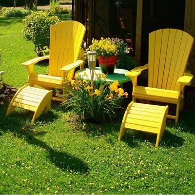 Fauteuil Adirondack jaune  Yellow Adirondack Chair