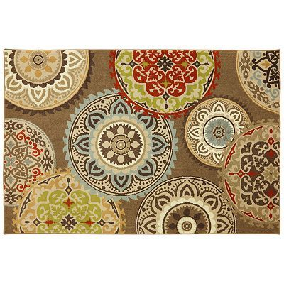 Gallery Carnival Medallion Rug Rugs Stencil Fabric Rug