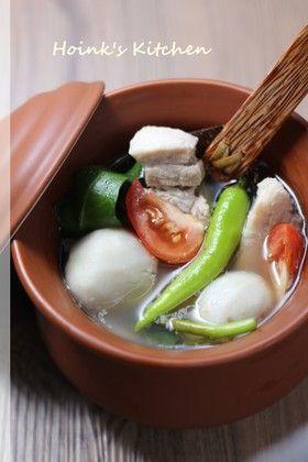 フィリピンの味★豚と里芋のシニガンスープ by Hoink [クックパッド ...