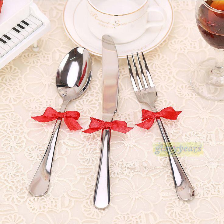mesa de jardim jumbo : mesa de jardim jumbo:Bonito Bowknot titular talheres talheres de mesa de jantar Decor para