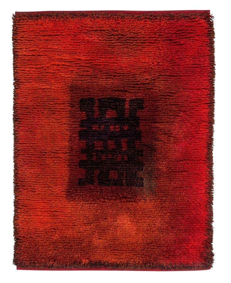 Ritva Puotila; Wool Knotted Pile Rug, 1970s.