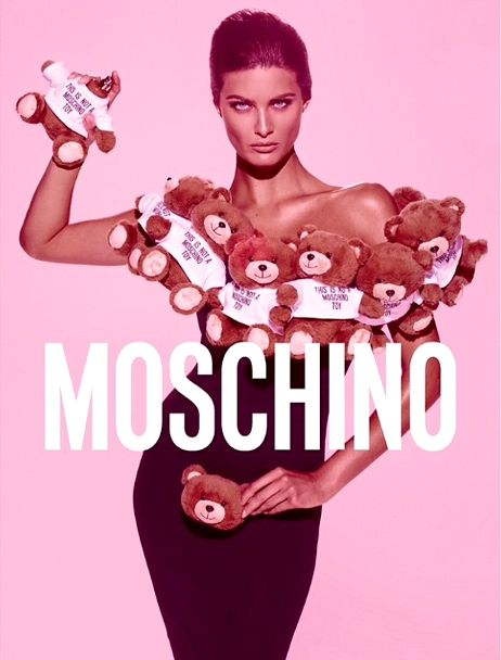 Ad Campaign: Moschino Toy Fragrance  Photographer: Steven Meisel  Model: Isabeli Fontana  Stylist: Carlyne Cerf de Dudzeele  Make-up: Pat McGrath  Hair: Guido Palau