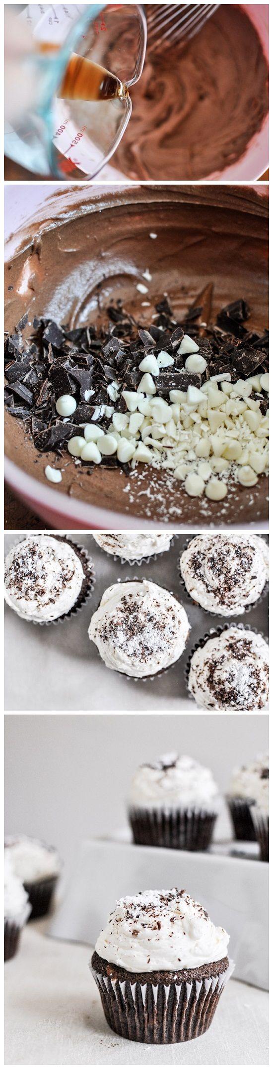 joysama images: Kahlua and Cream Double Chocolate Chunk Cupcakes