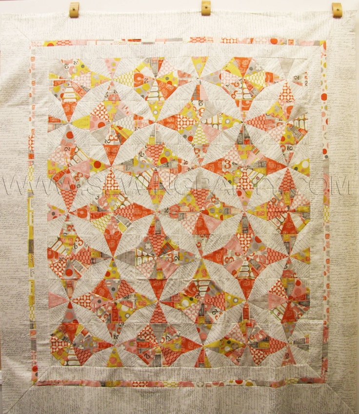 Kaleidoscope Triangle Quilt made by Cecile, Designed by Basic Grey