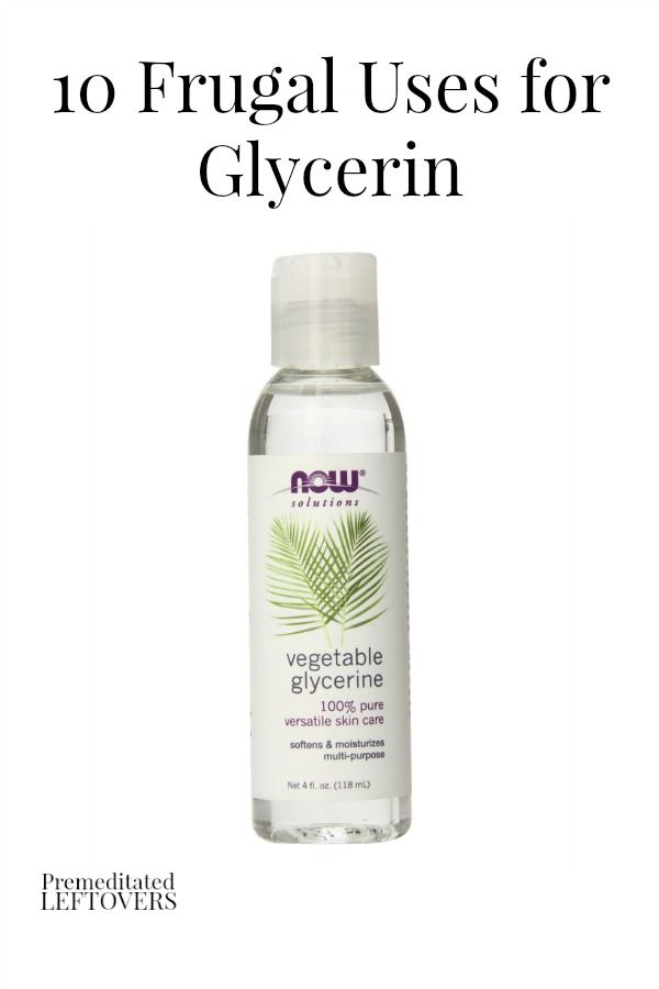Here are 10 Frugal Uses for Glycerin that offer gentle, inexpensive, and practical solutions to many common household and beauty issues.