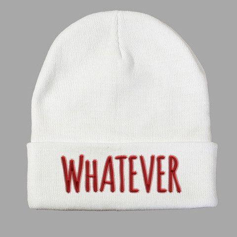 Whatever Beanie http://shirtoopia.com/products/whatever-beanie?utm_campaign=Pinterest%20Buy%20Button&utm_medium=Social&utm_source=Pinterest&utm_content=pinterest-buy-button-1aa4091ff-15d0-4320-8ddf-c79fab92f1bd