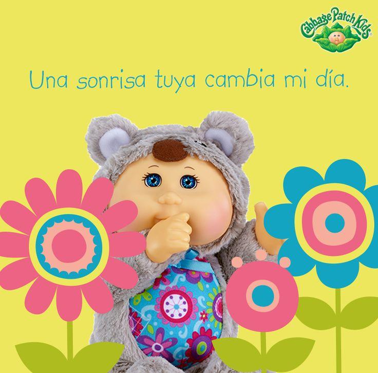 Una sonrisa tuya cambia mi día.  #cabbagepatch #cabbagepatchkids #sketchers #muñeca #niñas #abrazo #palaciodehierro #liverpool #comercialmexicana #walmart #soriana #sears #chedraui #coppel #juguetron #HEB #kids