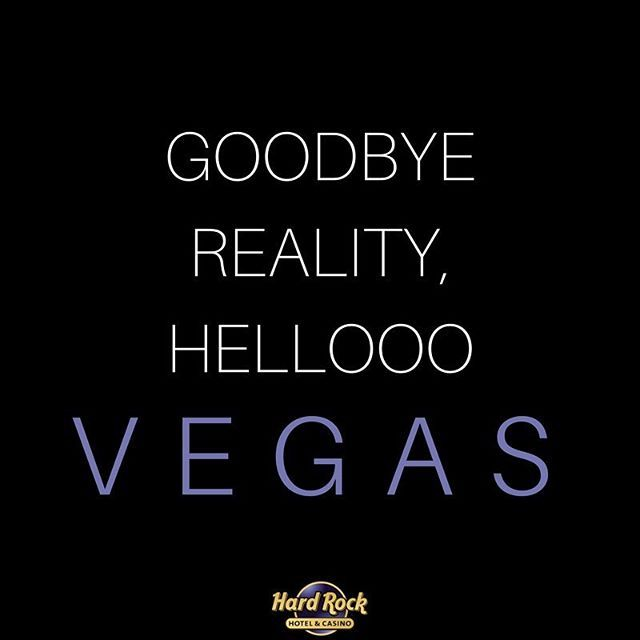 Let the good times roll. ✈️✌️ #VegasBound #ThisIsHardRock