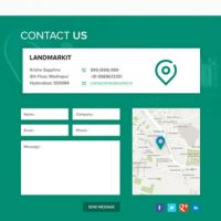 Footer - contains great information like map, address, and a contact us form.