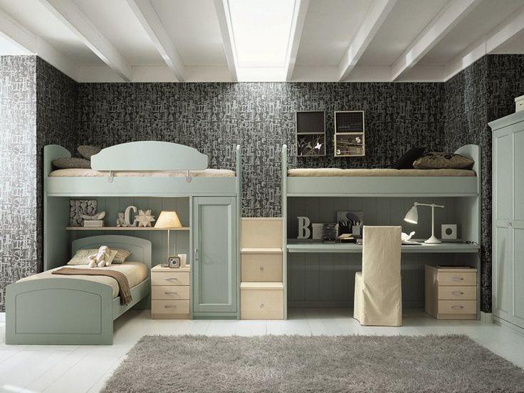 Loft bedroom set for boys/girls NUOVO MONDO N16 Nuovo Mondo Collection by Scandola Mobili