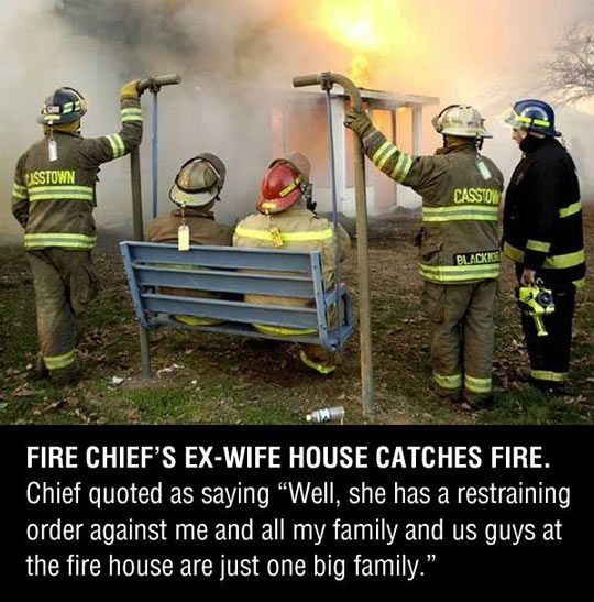 Fire chief revenge // funny pictures - funny photos - funny images - funny pics - funny quotes - #lol #humor #funnypictures