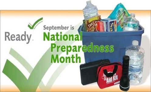 September 2015, The Month of National Preparedness For Weather-related disasters and Humanitarian: Are You Ready?