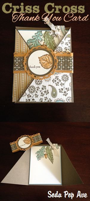 This is a very clever homemade card format - check out how to make it at www.SodaPopAve.com