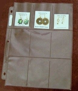 Jewelry travel organizer made from plastic pocket pages and a binder