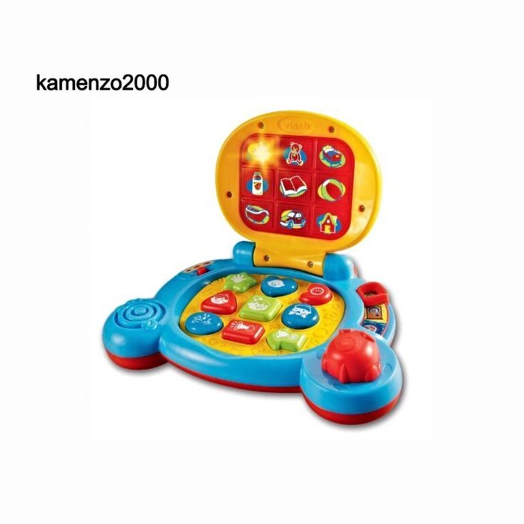 Baby Laptop Colorful Learning 6+ Months Interactive Teach Shapes Sound Effects