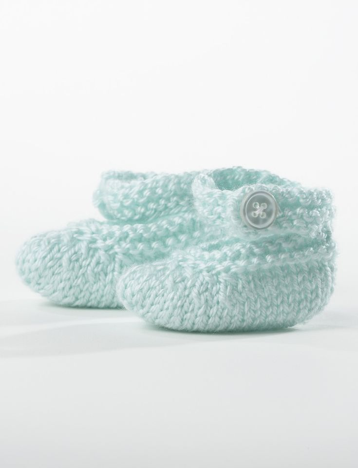 Bernat Knitting Patterns Free : Yarnspirations.com - Bernat Baby Booties - Free Pattern Knit Charity Ea...