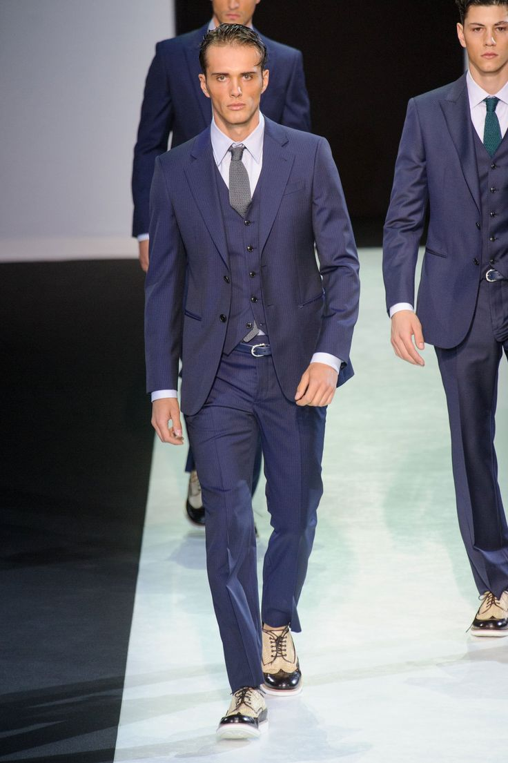 Simone Nobili runway @ Giorgio Armani SS14 (Tuesday, June 25, 2013, 10:30 am)