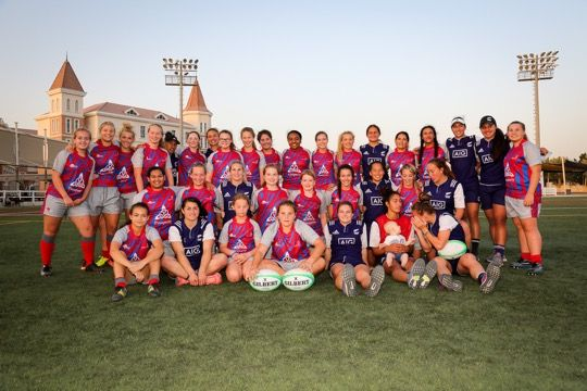 The count down to Dubai Rugby 7s continues. Just flown in are the NZ7s . They held a training session for the Girls Academy at Apollo Perelini Rugby Skills Academy - APRSA which has been running for the last 4 years as a build up to the 7's. It was a great session and a wonderful way to encourage woman's rugby in Dubai. J20sports are proud to promote woman's rugby in Dubai. GOODLUCK New Zealand women's national rugby sevens team and thanks for taking time out of your busy schedule to help.