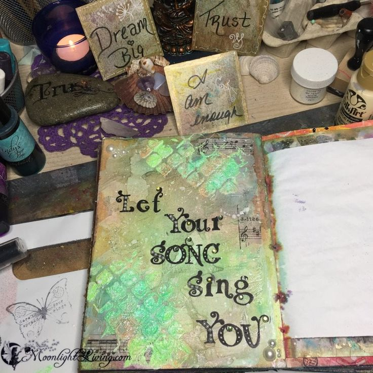 """Number 100 of my """"Counting down the last 100 days of the year through Art Journaling""""... """"Let your Song sing You"""" #CreativeMagick"""