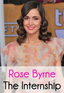Rose Byrne said that her characters are usually a little uptight, but in The Internship, she gets to hold her own comedy against Owen Wilson & Vince Vaughn.