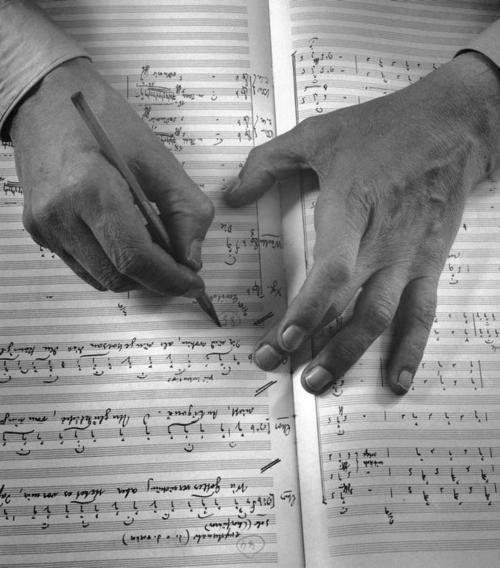 Photo by Herbert List - German composer Carl Orff, Munich, 1955. Magnum Photos. S)