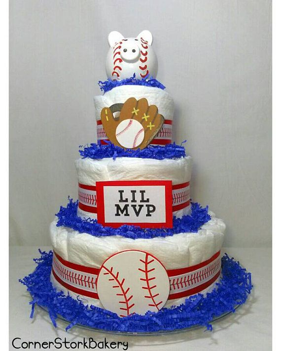 Check out this item in my Etsy shop https://www.etsy.com/listing/398552663/lil-mvp-baseball-diaper-cake